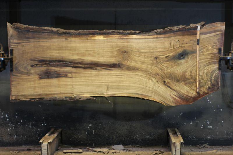 walnut slab 1106-7 rough size 2.5″ x 32-40″ avg. 35″ x 9′