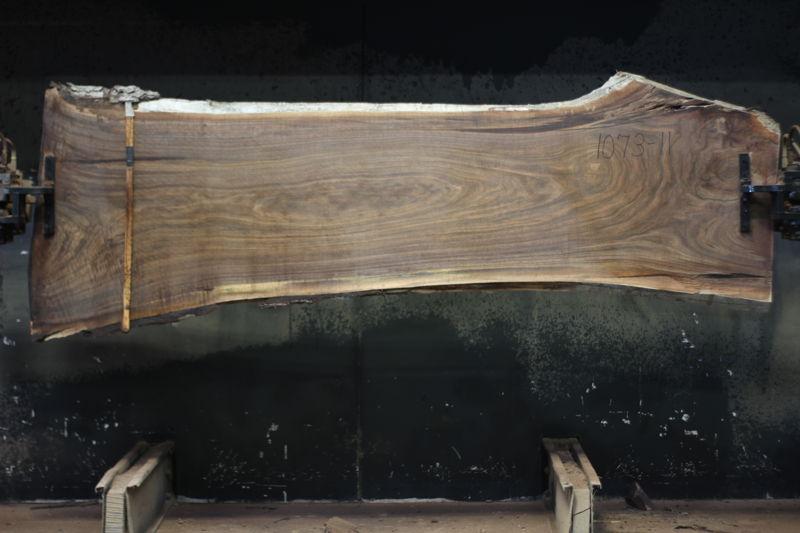 walnut slab 1073-11 rough size 2″ x 27-34″ avg. 29″ x 9′