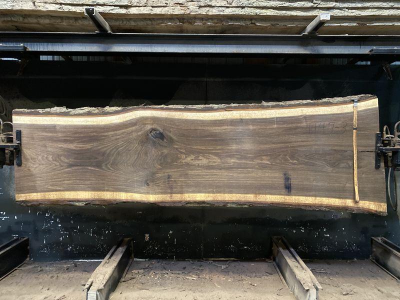 walnut slab 1147-3 rough size 2.5″ x 28-36″ avg. 30″ x 10′ SALE PENDING PO 21-8047