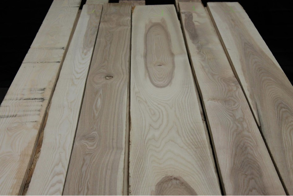 Northern Select & Better White Ash Lumber Unselected for color