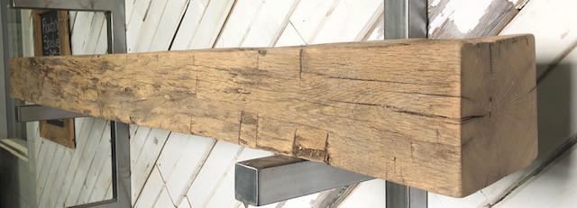 Oak Mantel 2003, size: 6″ High x 6.5″ Deep x 72″ Long, right view