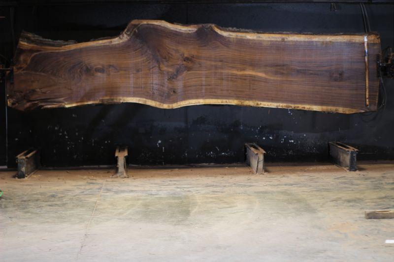 walnut slab 1049-1 rough size 2.5″ x 25-44″ avg. 38″ x 15′ $3300