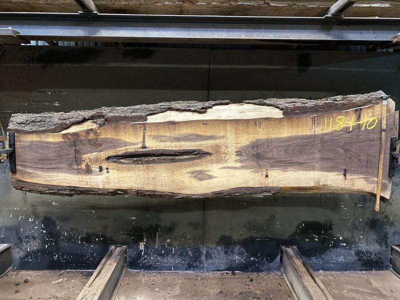 walnut slab 1184-10 rough size 2.5″ x 14-28″ avg. 23″ x 9′ $650