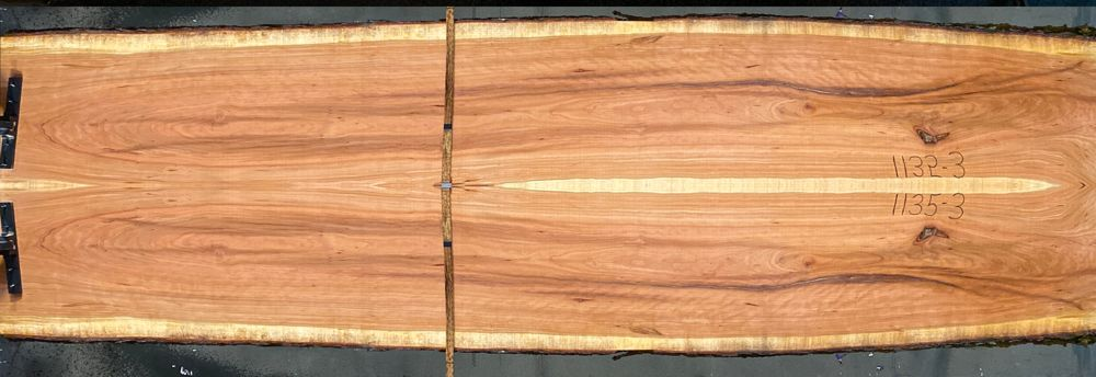 Cherry slabs 1135-2&3  simulation, approx. size 1.75″ x 39″ x 12′ Both Rough Slabs $1550