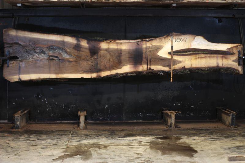 walnut slab 1050-7 rough size 2.5″ x 13-39″ avg. 25″ x 15′ $900