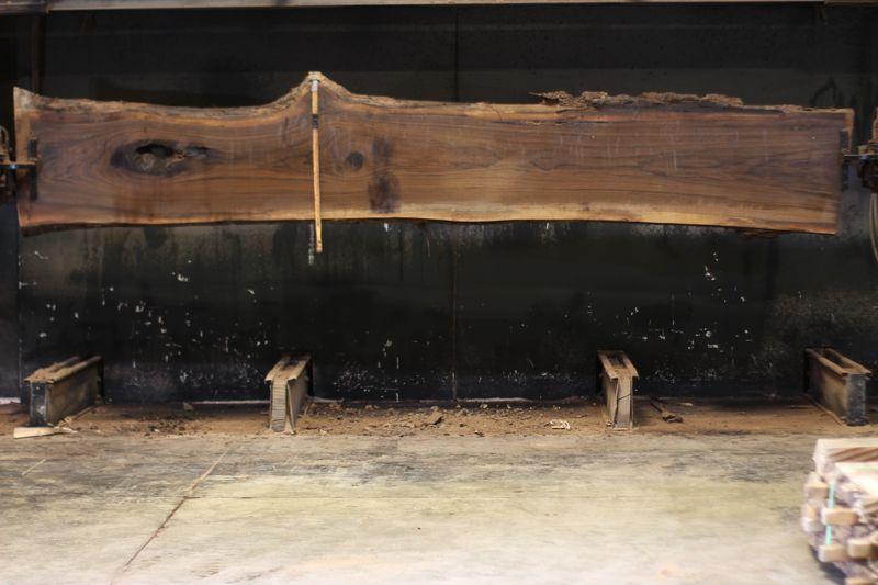 walnut slab 1115-2 rough size 2.5″ x 21-28″ avg. 23″ x 14′ $1150
