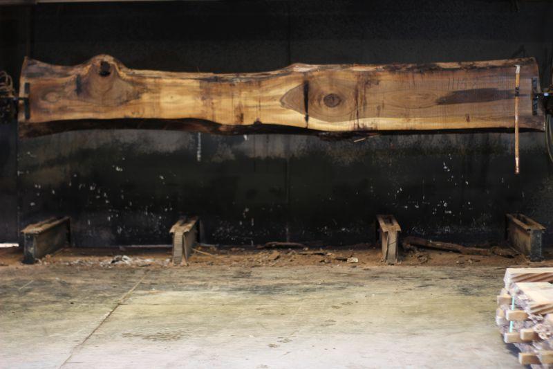walnut slab 1115-8 rough size 2.5″ x 13-20″ avg. 16″ x 14′ $850