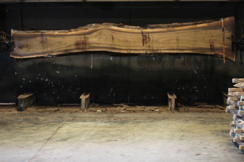 walnut slab 1116-8 rough size 2.5″ x 16-31″ avg. 20″ x 14′ $900