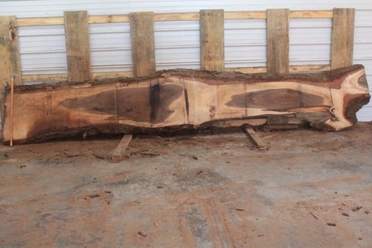 slab 221-8, rough size: 2.5″ x 6″-24″ x 15′ $1250