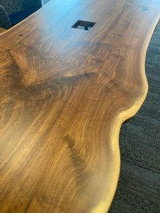 Natural Live Edge Walnut Conference Table