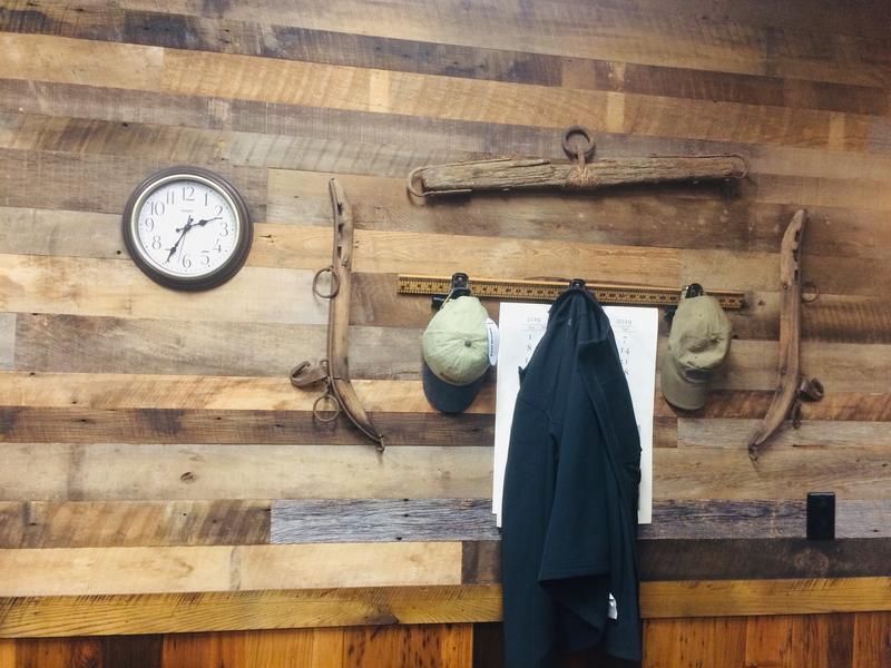 thin mixed reclaimed hardwood wall cladding