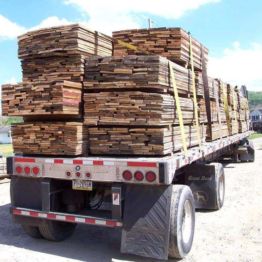 truck load of reclaimed lumber