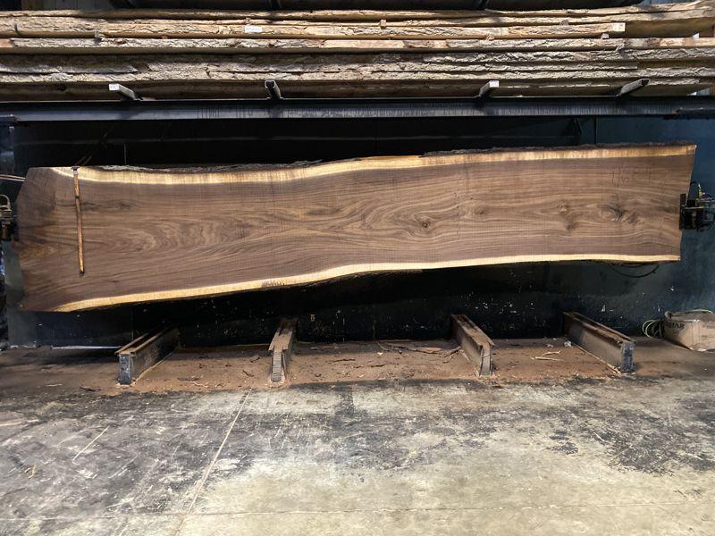 walnut slab 1168-4 rough size 2.5″ x 37-48″ avg. 39″ x 18′ $5500