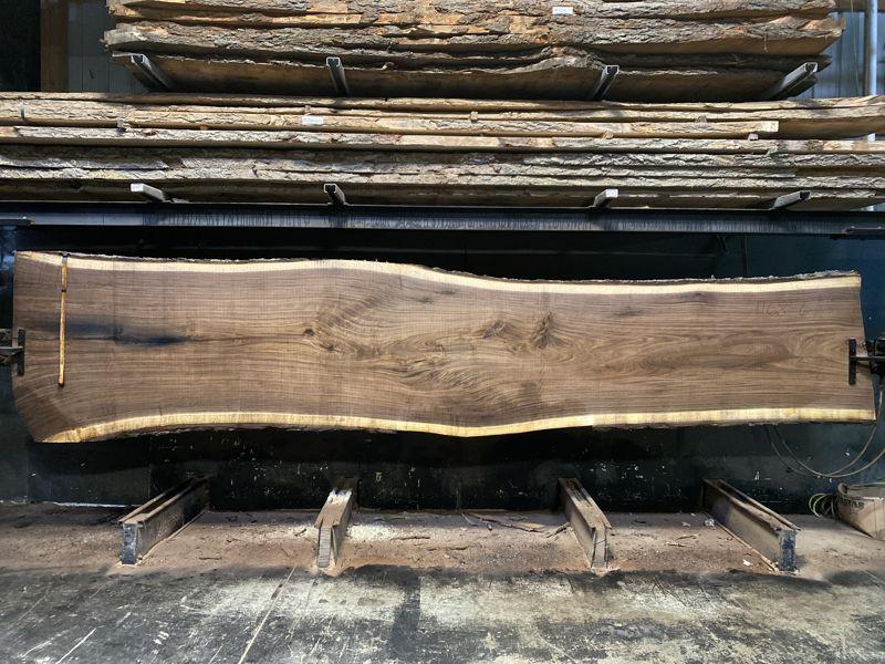 walnut slab 1168-6 rough size 2.5″ x 36-51″ avg. 40″ x 18′ $5700