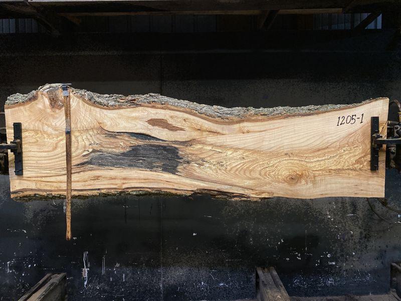 ash slab 1205-1 rough size 2.5″ x 15-24″ avg. 19″ x 7′ $475