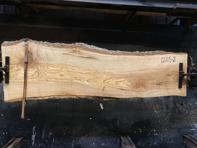ash slab 1205-2 rough size 2.5″ x 20-26″ avg. 21″ x 7′ $625