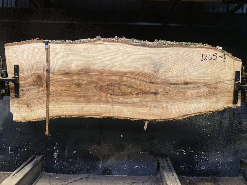 ash slab 1205-4 rough size 2.5″ x 19-28″ avg. 24″ x 7′ $675