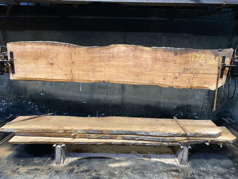 cherry slab 1178-3 rough size 2″ x 19-22″ avg. 21″ x 10′ $650