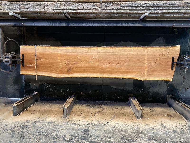 cherry slab 1144-5 rough size 2.5″ x 28-32″ avg. 29″ x 12′ $800