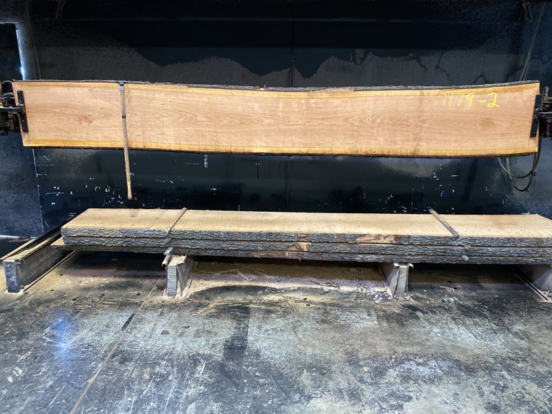 cherry slab 1179-2 rough size 2.5″ x 18-20″ avg. 18″ x 12′ $600