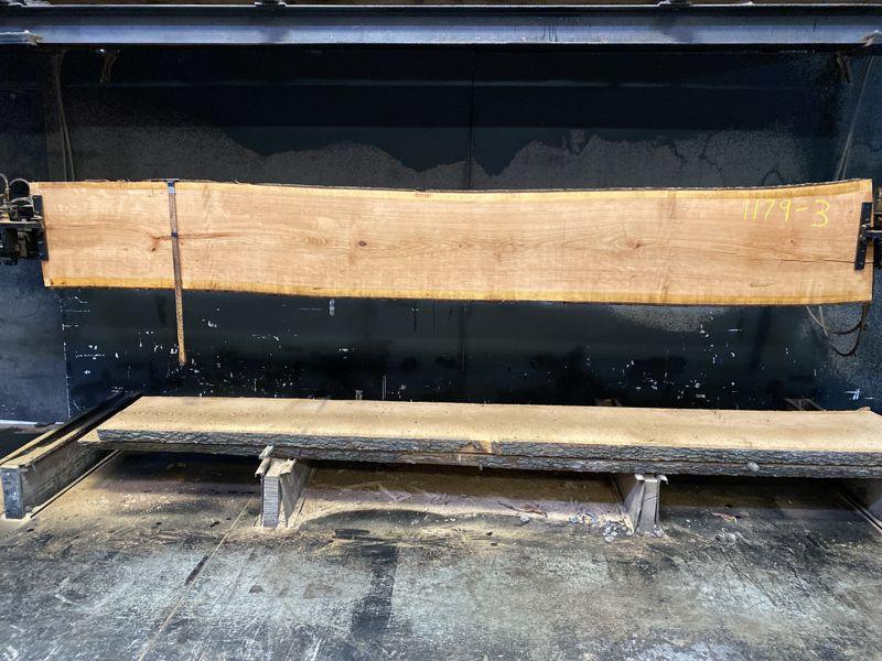 cherry slab 1179-3 rough size 2.5″ x 19-21″ avg. 20″ x 12′ $600
