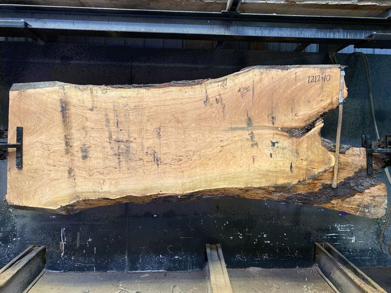 cherry slab 1212-10 rough size 2.5″ x 31-35″ avg. 32″ x 8′ $900