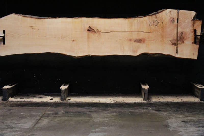 hard maple slab 893-7 rough size 2.5″ x 28-40″ avg. 31″ x 14′