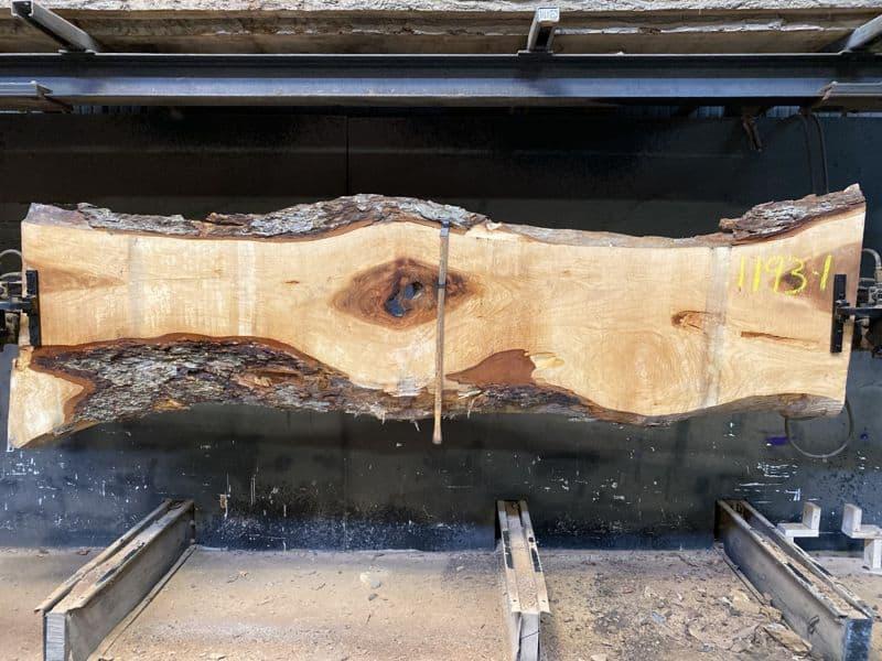 pecan slab 1193-1 rough size 2.5″ x 14-26″ avg. 21″ x 10′ $725