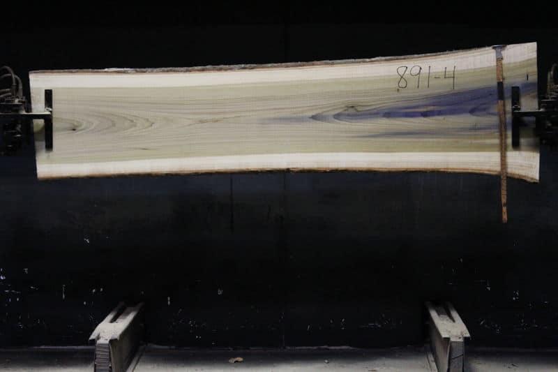 Poplar slab 892-4 rough size 2″ x 20-26″ avg. 21″ x 8′ $450