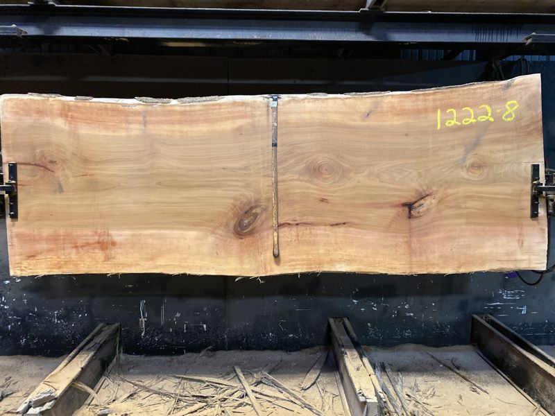 sycamore slab 1222-8 rough size 2.5″ x 37-43″ avg. 39″ x 10′ $1350 Sale pend tpo 21-5096