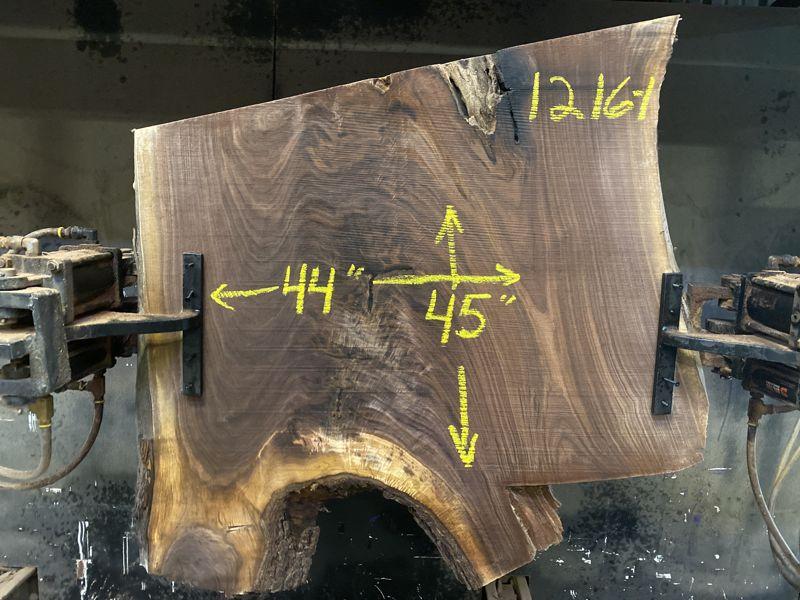 walnut slab 1216-1 rough size 2.5″ x 44″ x 45″ $450