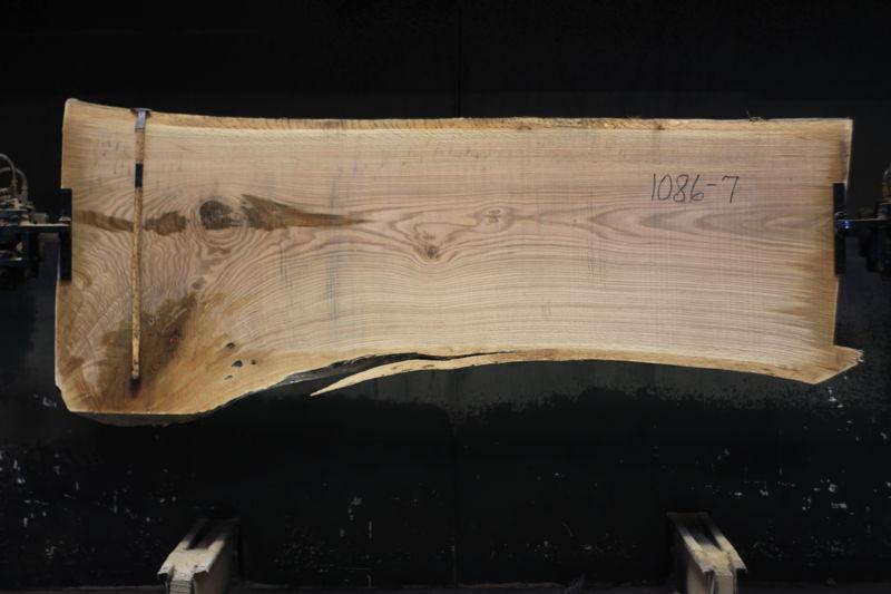 white oak slab 1086-7 rough size 2.5″ x 31-41″ avg. 34″ x 8′ $1050