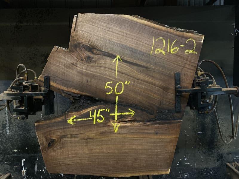 Walnut Coffee Table Slab 1216-2 Dimensions as shown on slab $450