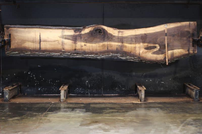 walnut slab 1055-10 rough size 2.5″ x 16-30″ avg. 18″ x 14′ $950