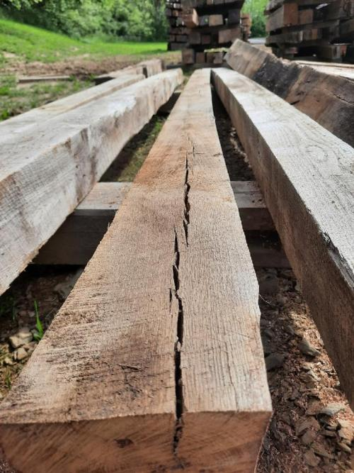 Smooth Planed, Reclaimed White Oak Beams