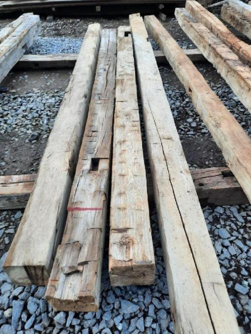 Reclaimed Hand Hewn Hardwood with Mortise Pockets